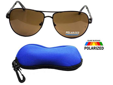Locs Polarized Aviator Shades / FREE ZIPPER CASE