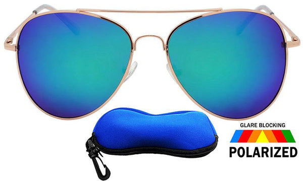 Locs Polarized Aviator Shades/ FREE ZIPPER CASE