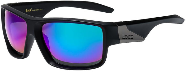 locs Square Wrap Mirrored Lens Unisex Shades