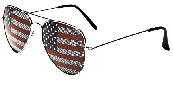 Locs Aviator Shades with US Flag