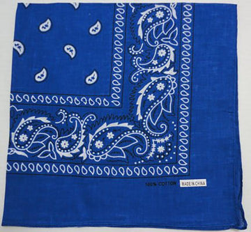 BANDANA-ROYAL BLUE PAISLEY Biker Doo Rag - Low Prices for Biker Doo Rag‎