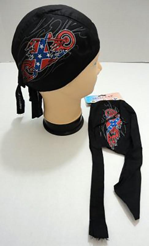SKULL CAP-MOTORCYCLE WITH REBEL FLAMES Biker Doo Rag - Low Prices for Biker Doo Rag‎