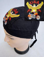 EMBROIDERED SKULL CAP [EAGLE WITH BIKE]
