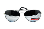Locs  Aviator Shades -silver with  mirrored lens