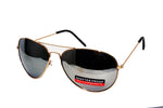 Locs  Aviator Shades -Gold with  mirrored lens
