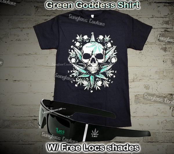 Green Goddess hip Hop Shirt