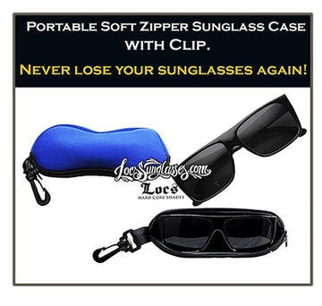Locs Sunglass soft zipper case / Royal Blue