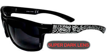 Super Dark  Bandana Shades combo