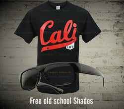 Cali Life Star Red Letters Mens Shirt - LocsShades.net