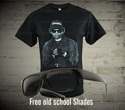 Eazy-e NWA T-Shirt NWA Mens T-shirt Hip Hop Rappers Eazy E Hip Hop Legends - LocsShades.net