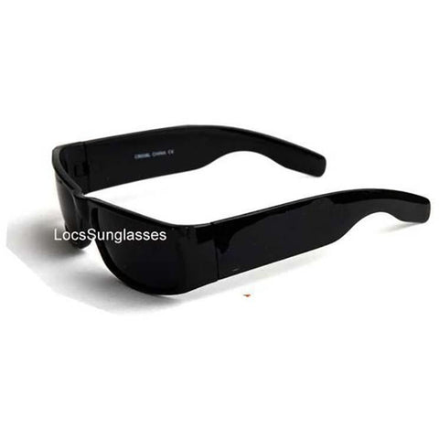 Gangster locs Super dark black sunglasses ( NO Logo)