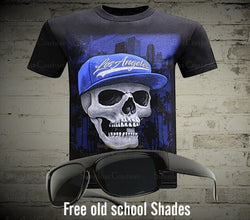 California Republic Los Angeles Skull Men's T-Shirt - LocsShades.net
