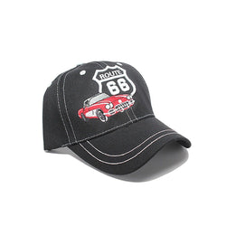 NEW! US ROUTE 66 CONVERTIBLE Logo  Baseball  CAP HAT BLACK - LocsShades.net