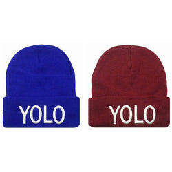 "NEW (YOLO) ""You only live once ""Beanie EMBROIDERY BEANIE SKULL CAP HIP HOP HAT - LocsShades.net"