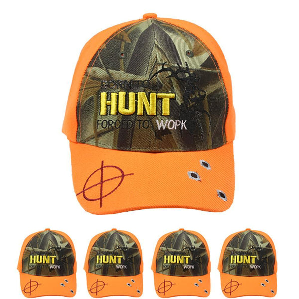 ORANGE & TREE CAMO Hunters Baseball CAP Adjustable Camouflage Hunting Hat Visor