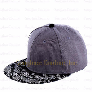 1PC Paisley Grey Snapback Bboy Hiphop Hat Adjustable Baseball Cap Unisex