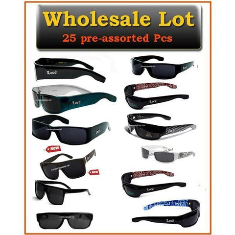 Wholesale Locs Sunglasses Lot of 25 pcs