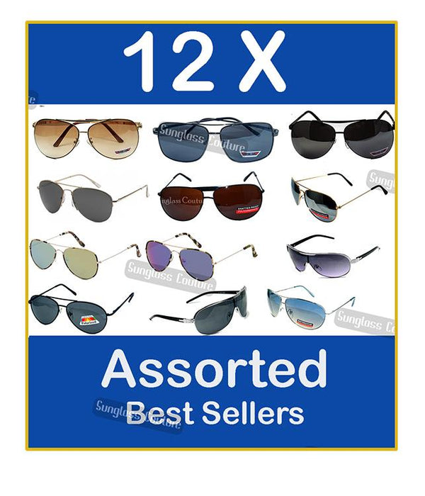 Locs  Aviator Shades COMBO ( LOT OF 12 PCS)