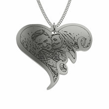 Load image into Gallery viewer, Personalize This Heart Pendant With Your Special Picture!