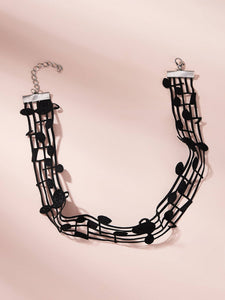 Cute, Adjustable Music Note Choker