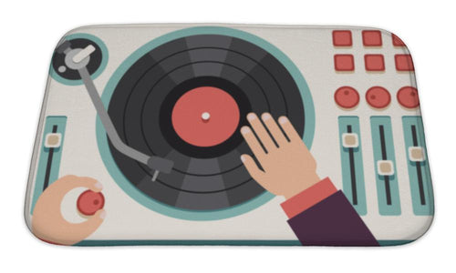 DJ'S Turntable Bath Mat