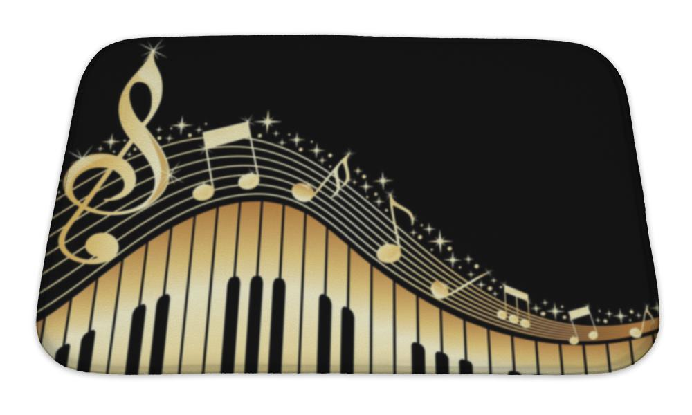 Golden Notes Bath Mat!