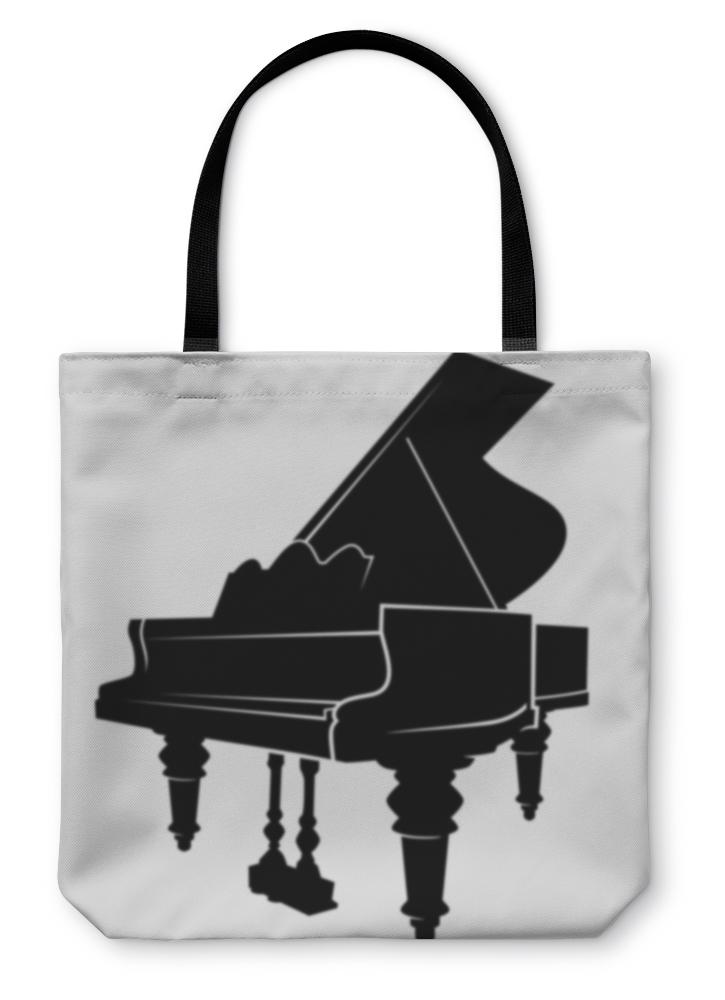 Play Me A Tune! Tote bag with Piano Image