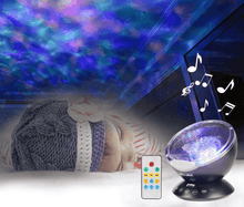 Load image into Gallery viewer, Ocean Wave or Night Sky Projector Night Light with Music