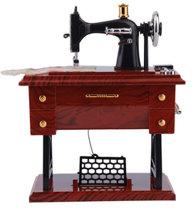 Mini Treadle Sewing Machine Music Box With Moving Parts! So Sweet!