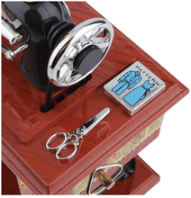 Load image into Gallery viewer, Mini Treadle Sewing Machine Music Box With Moving Parts! So Sweet!