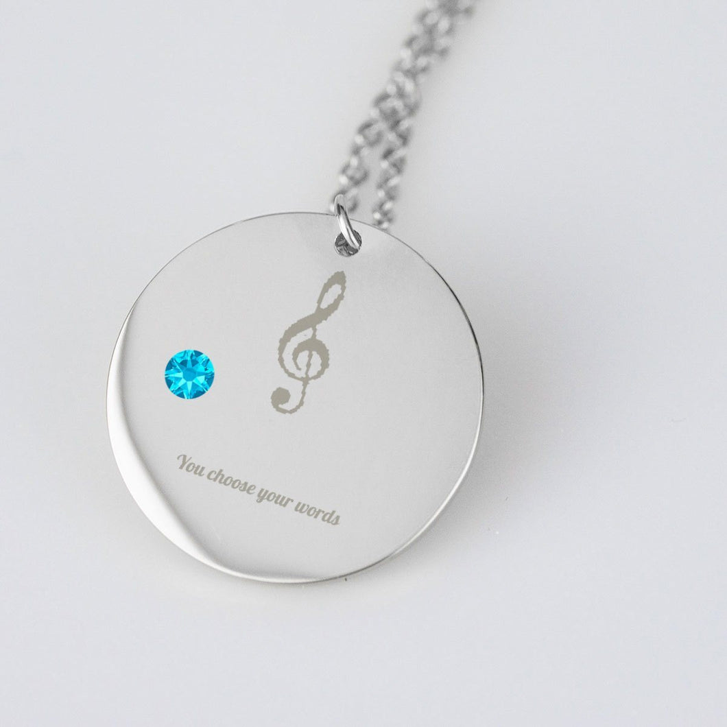 Personalized Music Gift Embedded With Your Birthstone!