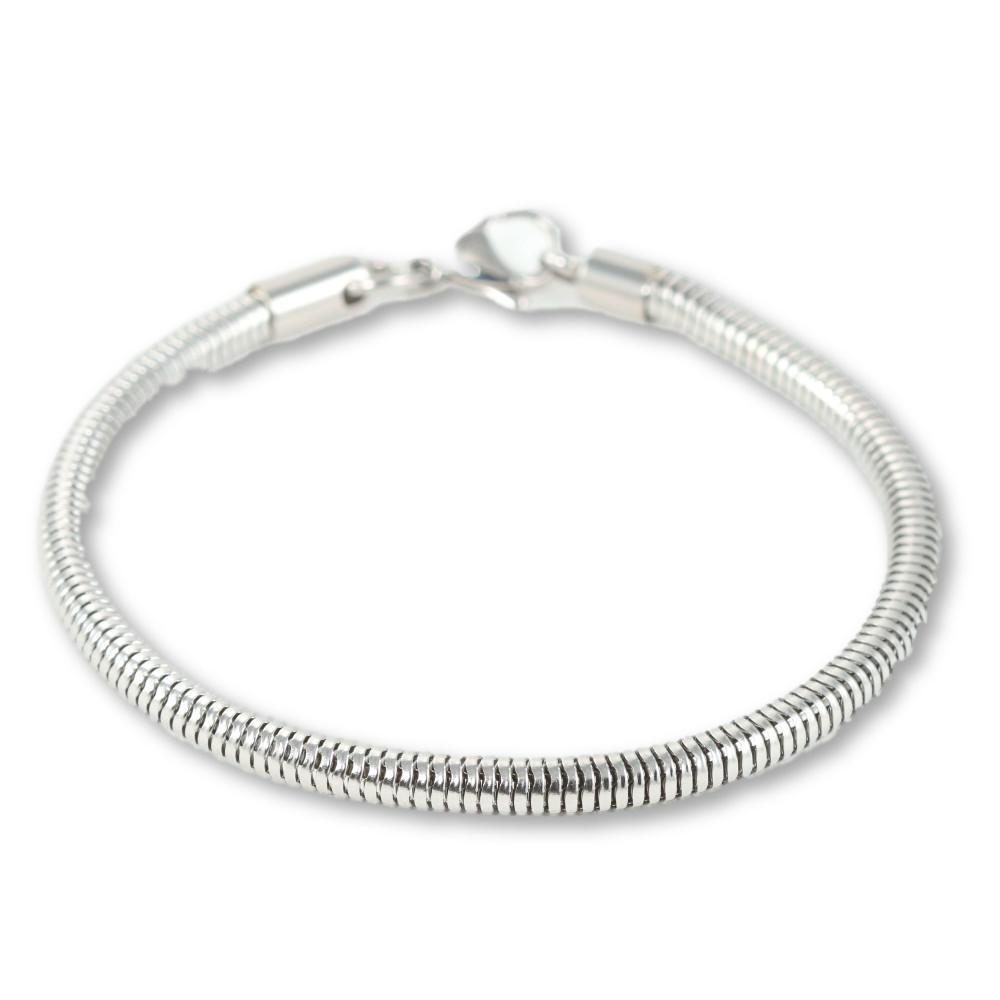 Beautiful Stainless Steel Charm Bracelet!