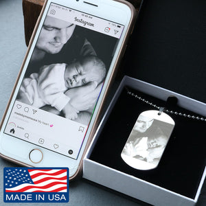 Customize Any Picture on This Dog Tag Necklace! Choose Silver or Gold!