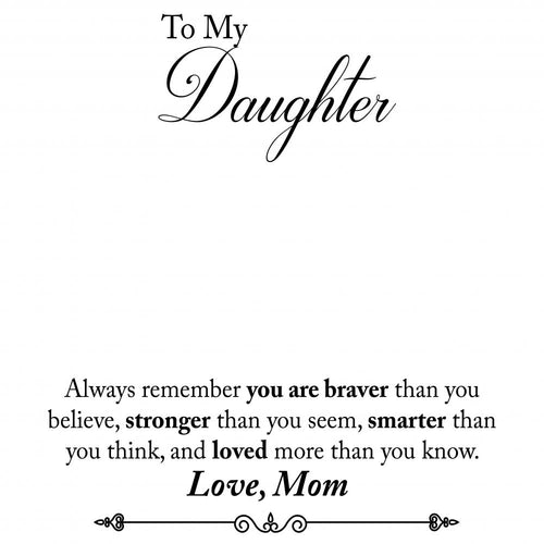 To Daughter From Mom: