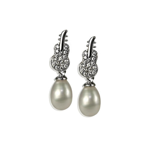 Designer Pearl Earrings! A Lovely Gift!