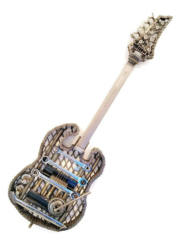 A Statement Piece! Handcrated Scrap Metal Electric Style Guitar