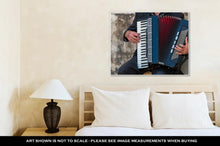 "Load image into Gallery viewer, ""Street Musician Playing An Accordion For Alms"""