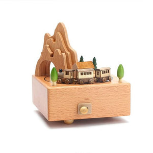 Exquisite Beechwood Music Boxes! Each One Has Moving Parts!