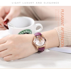 A Mechanical Watch With Crystals And Shine In Three Beautiful Colors!