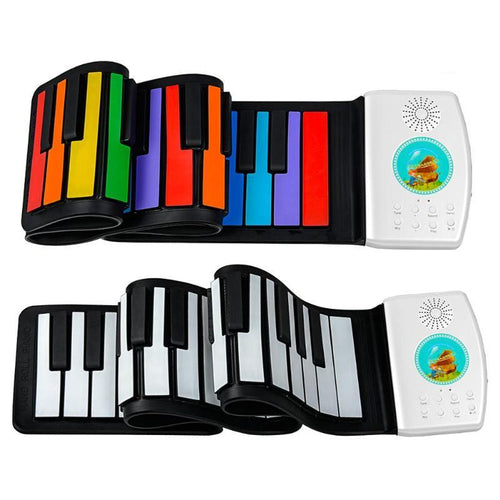 Great Gift! Portable 49 Keys Roll-Up Piano Keyboard!