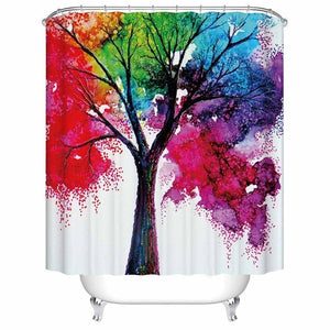 Watercolor Trees Shower Curtains! See The Songbirds?