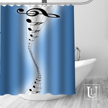 Load image into Gallery viewer, Personalized Music Shower Curtains In 22 Patterns!