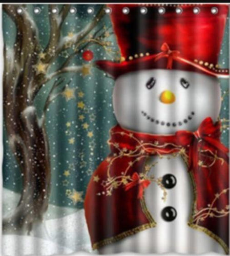 Snowman or Santa Shower Curtain!
