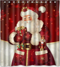 Load image into Gallery viewer, Snowman or Santa Shower Curtain!