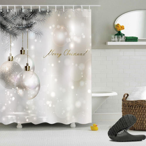 Glitter White Shower Curtain!
