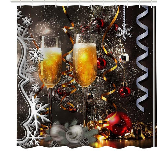 New Year's Eve Celebrations Shower Curtain