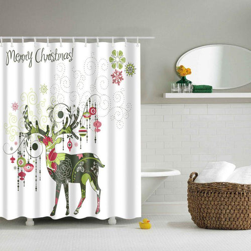 Reindeer and Ornaments Shower Curtain!