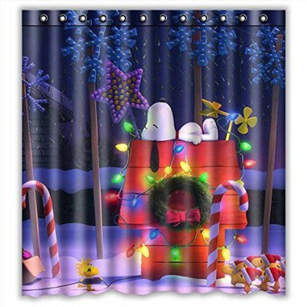 Snoopy and Christmas Shower Curtain!