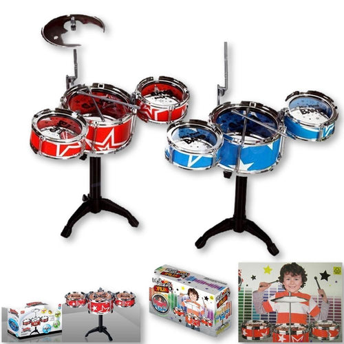 Your Children's Drum Set Is Here! A Fine Christmas Gift In Red Or Blue!