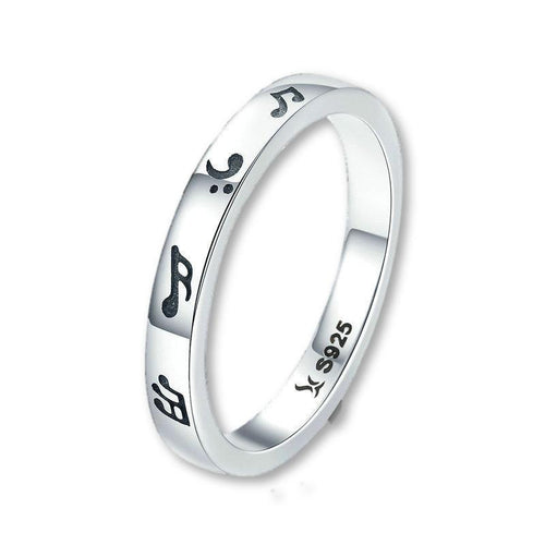 Uniquely Yours! Wear This .925 Sterling Silver Music Ring!